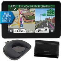 Garmin 5 In. Super Thin GPS Navigator with Free Lifetime Traffic and Map Updates