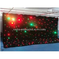 HOT 3M*8M RGB 3in1 Full Color LED Star Curtain,LED Display Curtain For Stage Backdrops