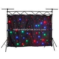 HOT 4M*6M RGB 3in1 Ful Color LED Star Curtain,LED Starcloth,DJ Cloth