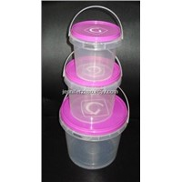 High Quality Food Grade Clear Plastic Bucket, Rich Colour and Wide Ranges of Sizes