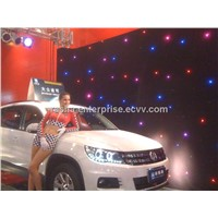 Indoor Flexible RGB LED Star Curtain For Stage Light,Disco Party,Ceiling Cloth,LED Starcloth