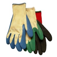 Latex coated gloves for gardeing