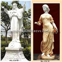 Women Jesus Carving Stone Statue