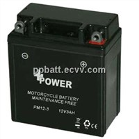 Motorcycle battery 12V3AH