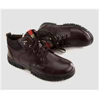 New 2013 Winter mens casual shoes genuine leather ankle boots with wool warm shoes