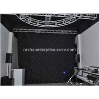 New Brightness2M*3M SMD5050 8 Channle R/G/B/Y LED Star Curtain,LED Star Cloth For Stage Light