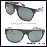 New Trendy Fashion Handmade Flat Top Aviator Sunglasses