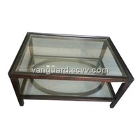 Wooden Glass Occasional Table