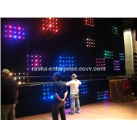 PC Mode+SD Card 3in1 RGB P7 2M*4M 1596 leds LED Video Curtain For DJ Wedding Backdrops,Event