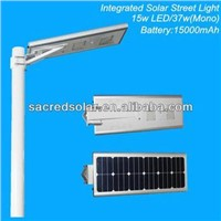 Patented all in one Integrated solar led street lights, solar power street light(SD-SIL-15)