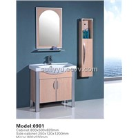 Ploywood mordern design bathroom cabinet with mirror