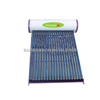 Pressurized vacuum tube solar water heaters