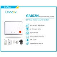Quad band GSM home security alarm system & home security system with remote control GM02N
