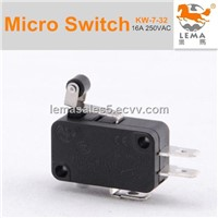 Roller lever momentary contact switch