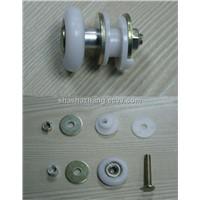 Running performance sliding shower door roller bearings