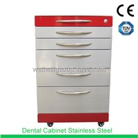 SSU-01 5 drawers stainless steel dental trolley