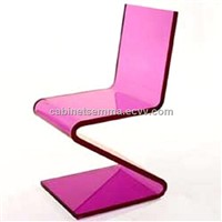 S Style Acrylic Dinning Chair  Different Colors