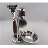 Shaving Set Finest Badger Hair Brush Mach3 Razor Stainless Stand With A bowl