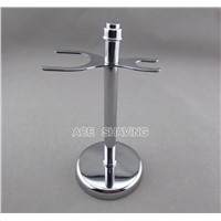 Stainless Steel Chrome Plated Shaving Set Stand for Razor and shaving brush