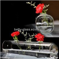 Cuboid Shaped Glass Terrarium with 3 small holes Creative Glass Vase Home Decoration For Air Plant