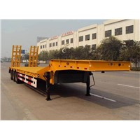 Tri-Axle Transport 40ton Low Bed Semi Trailer