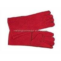 Welding Protection Red  Leather Safety Welding Gloves
