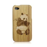Wooden Carved Hard Case Cover For iPhone 4 4S