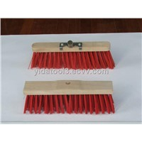 Wooden back floor cleaning brush