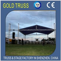Aluminum Roof Truss with Beam 400x400mm Pillar 300x300mm Truss
