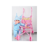 "baby stroller with 12""doll with music"