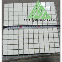 super thassos glass 2.5x2.5cm square mosaic