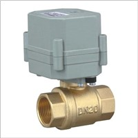 2 way mini brass  electric actuator power water ball  valve
