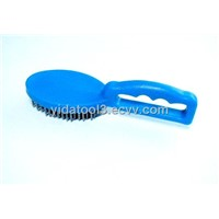 plastic handle oval block  wire brush