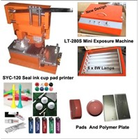 pen pad printing machine with exposure machine for printing