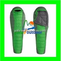 white duck down sleeping bag