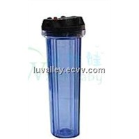 20' Transparent Water Filter Cartridge, PP, Carbon and Resin