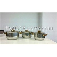 6pcs casserole set stainless steel casserole set happy home casserole set
