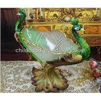 Resinic Decoration Peacock Look Creative and Novel Compote