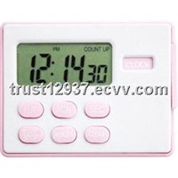 programmable  magnetic digital timer with clock for kitchen