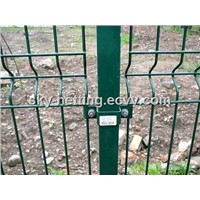 Fencing Curved Wire Fence ,Triple-Wire Fences