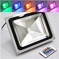 50 Watt RGB Color Changing LED Flood Light, Outdoor Using Waterproof IP65