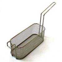 Fry Basket with Crimped Wire Mesh Cookware