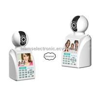 Wireless home burglar security GSM alarm system, network camera with video calls, remote monitoring