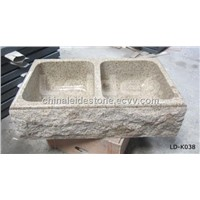Natural stone apron front kitchen sink LD-K038
