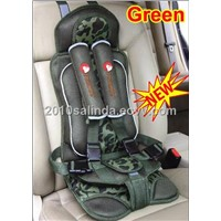 Portable Baby Kid Toddler Car Safety Secure Booster Seat Cover Harness Cushion--Green