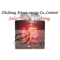Solar traffic lighting with yellow color shine