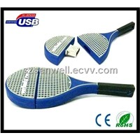 Tennis Racket Silicone USB Flash Memory-S031