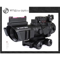 Vector Optics Tactical 4x32 Compact Rifle Scope Fiber Gun Sight