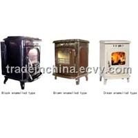 enamalled casting iron stove