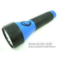 plastic rechargeable LED torch light, flashlight
